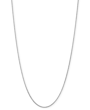 """Wheat Link 20"""" Chain Necklace in 14k White Gold"""