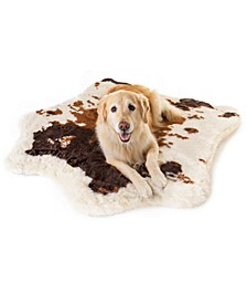 PupRug Brown Faux Cowhide Memory Foam Bed