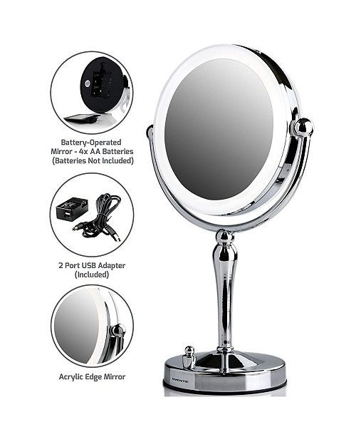 OVENTE Lighted Tabletop Makeup Mirror