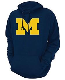 Men's Michigan Wolverines Screenprint Big Logo Hooded Sweatshirt