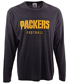 Men's Green Bay Packers Box Score FO Long Sleeve T-Shirt