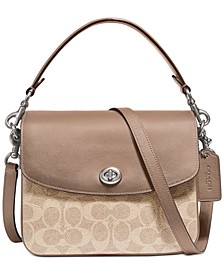 Coated Canvas Signature Cassie Crossbody