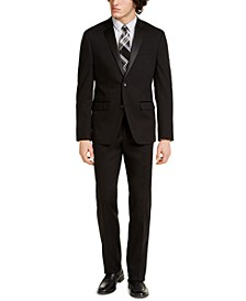 Men's Slim-Fit Stretch Black Solid Tuxedo