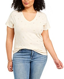 Plus Size Cotton Printed T-Shirt, Created For Macy's