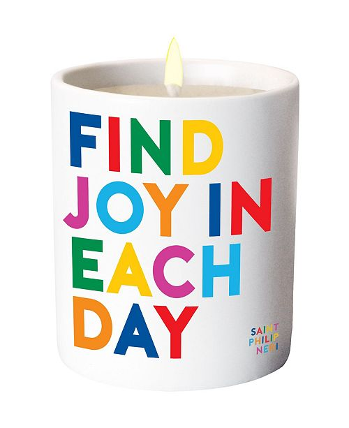 Quotable Find Joy in Each Day Candle