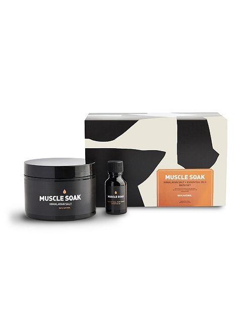 Way Of Will Muscle Soak Bath Set Himalayan Salt and Essential Oil