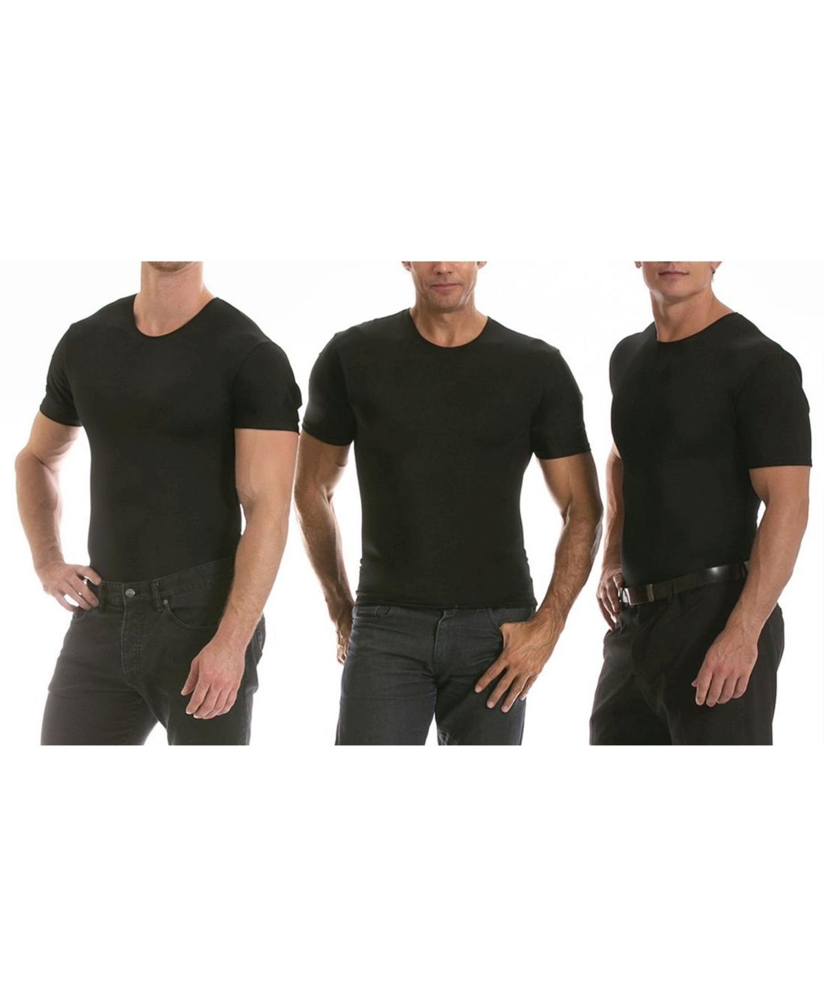 Men's Big & Tall Insta Slim 3 Pack Compression Short Sleeve Crew-Neck T-Shirts