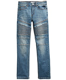 Big Boys Chase Stretch Moto Jeans, Created for Macy's