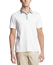 Men's Contrast-Collar Supima Cotton Polo Shirt