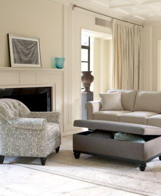 Merveilleux Martha Stewart Club Fabric Sofa Living Room Furniture Collection Part 3