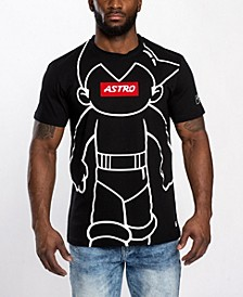 Men's Astroboy Chenille Patch All Over Graphic T-shirt