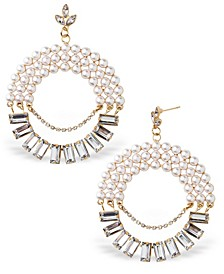 Accessories Imitation Pearl and Stone Statement Earrings