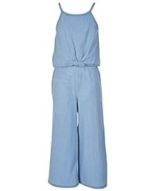 Big Girls Cotton Tie-Front Jumpsuit