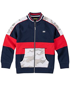 Little Boys Pieced Colorblocked Track Jacket