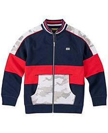 Big Boys Pieced Colorblocked Track Jacket