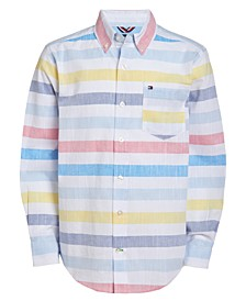 Little Boys Xander Stretch Stripe Shirt