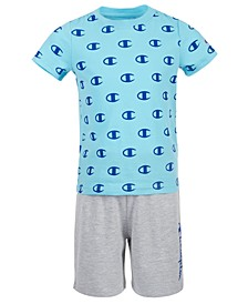 Little Boys 2-Pc. C Logo T-Shirt & Logo Shorts Set