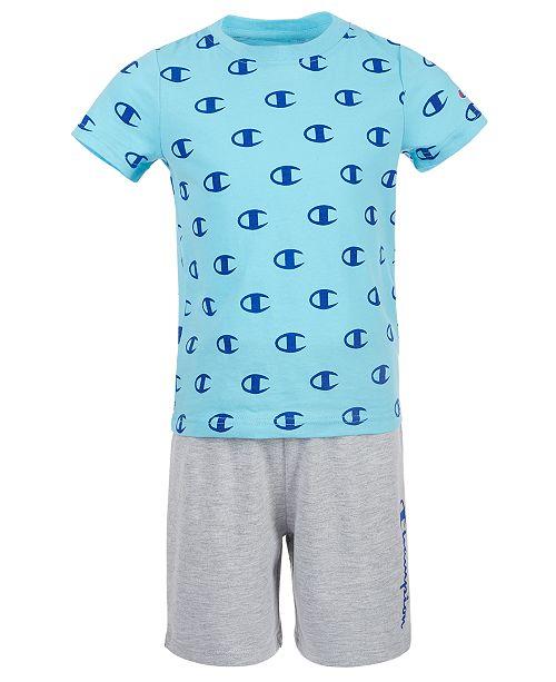 Champion Toddler Boys 2-Pc. C Logo T-Shirt & Logo Shorts Set