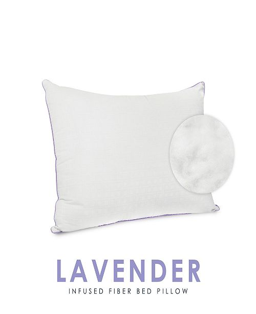 SensorPEDIC Wellness Collection Fiber Pillow with Lavender Infused Fabric Cover