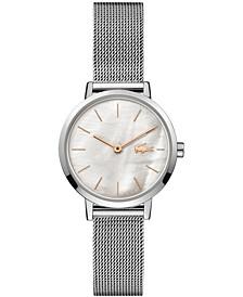 Women's Moon Stainless Steel Mesh Bracelet Watch 28mm