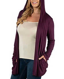 Long Sleeve Pocket Hoodie Plus Size Cardigan