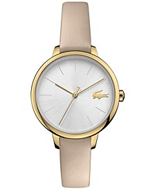 Women's Cannes Taupe Leather Strap Watch 34mm
