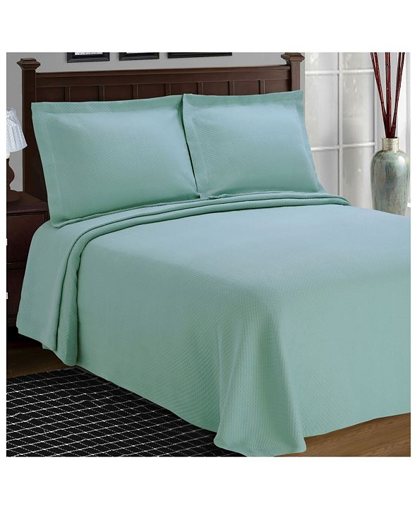 Superior Diamond Pattern Jacquard Matelasse 3 Piece Bedspread Set, King