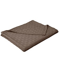 Basket Weave Woven All Season Blanket, Twin