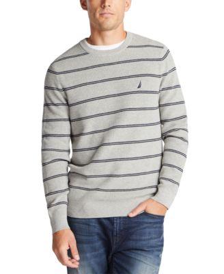 Men's Navtech Crewneck Striped Sweater