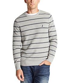 Men's Navtech Crewneck Striped Sweater