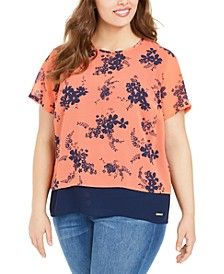 Plus Size Split-Back Top