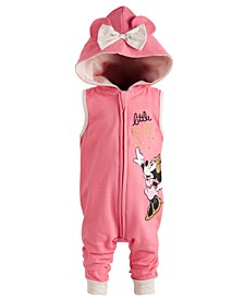 Baby Girls Minnie Mouse Hooded Coverall