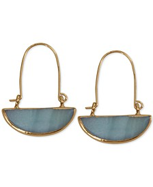 Gold-Tone Semi-Circle Drop Earrings