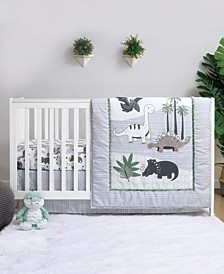 Dinosaur 4-Piece Crib Bedding Set