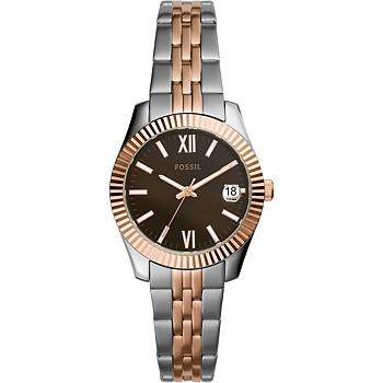 Fossil Women's Scarlette Mini Two-Tone Stainless Steel Bracelet Watch