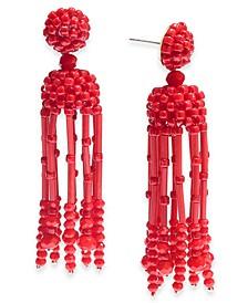 INC Beaded Tassel Linear Earrings, Created for Macy's