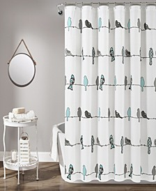 "Rowley Birds 72"" x 72"" Shower Curtain"