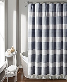 "Tucker Stripe Yarn Dyed Cotton 72"" x 72"" Shower Curtain"
