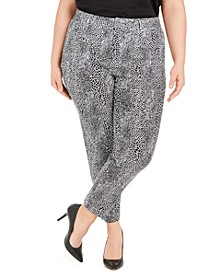 Plus Size Printed Pants