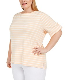 Plus Size Roll-Tab T-Shirt
