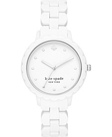 Women's Morningside White Silicone Strap Watch 38mm