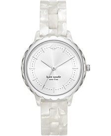 Women's Morningside White Acetate Bracelet Watch 38mm