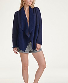 Women's Faux Sherpa Line Lounge Cardigan, Online Only