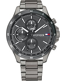 Men's Chronograph Gunmetal Stainless Steel Bracelet Watch 46mm, Created for Macy's