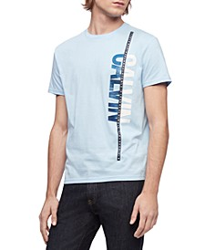 Men's Vertical Calvin Logo Graphic T-Shirt