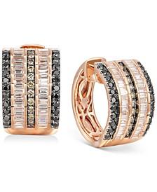 Exotics® Multi-Row Diamond Hoop Earrings (1-3/8 ct. t.w.) in 14k Rose Gold