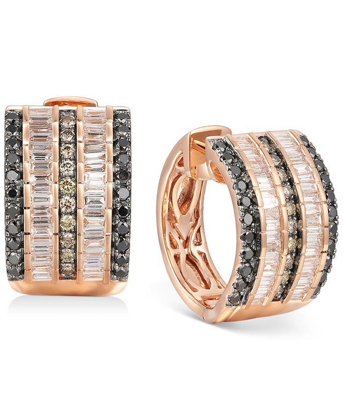 Le Vian - Multi-Row Diamond Hoop Earrings (1-3/8 ct. t.w.) in 14k Rose Gold
