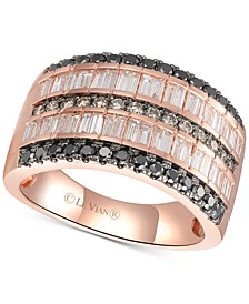 Exotics® Diamond Multi-Row Statement Ring (1-3/8 ct. t.w.) in 14k Rose Gold