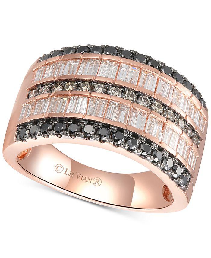 Le Vian - Diamond Multi-Row Statement Ring (1-3/8 ct. t.w.) in 14k Rose Gold