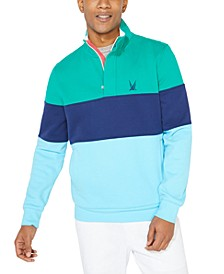 Men's Colorblocked Quarter-Zip Jacket, Created for Macy's